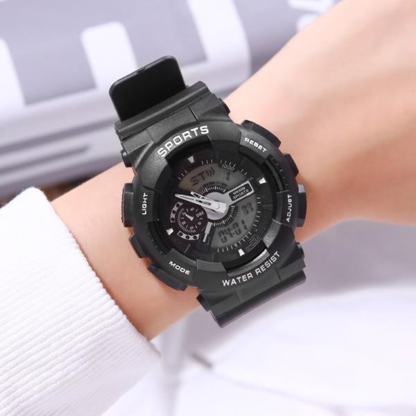Aiqinuo_B002 아날로그 디지털 스포츠 손목시계