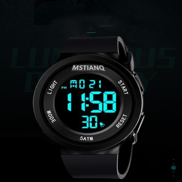 하나 더 5ATM 디지털 MSTIANQ 스포츠 손목시계 와치