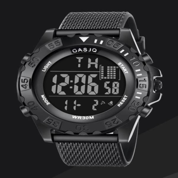 GASJQ 디지털 반전 Black 스포츠손목시계 와치_1002