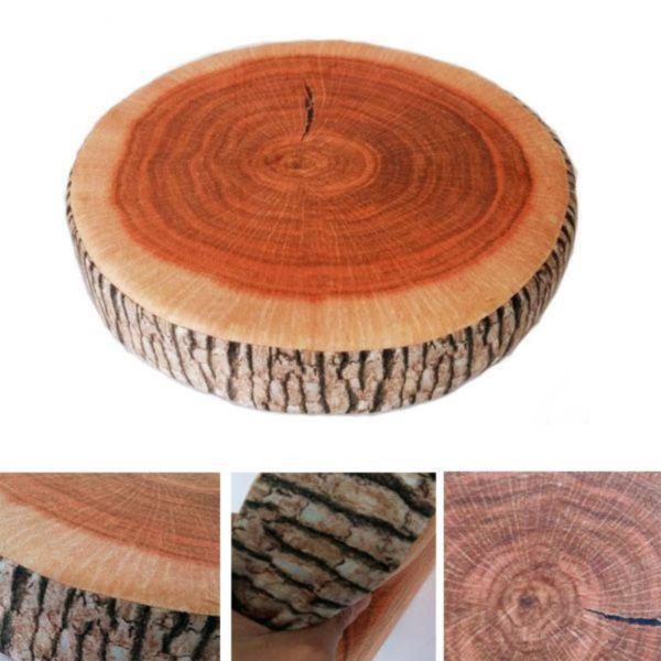 나무결이 살아있는 방석 쿠션 인테리어쿠션