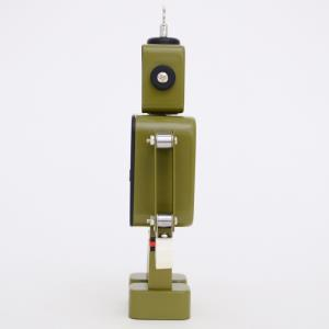 로봇알람 탁상시계 아동 학생 감성 인테리어 무소음 캐릭터 이쁜탁상시계 New 감성 로봇 저소음 알람 시계(카키)