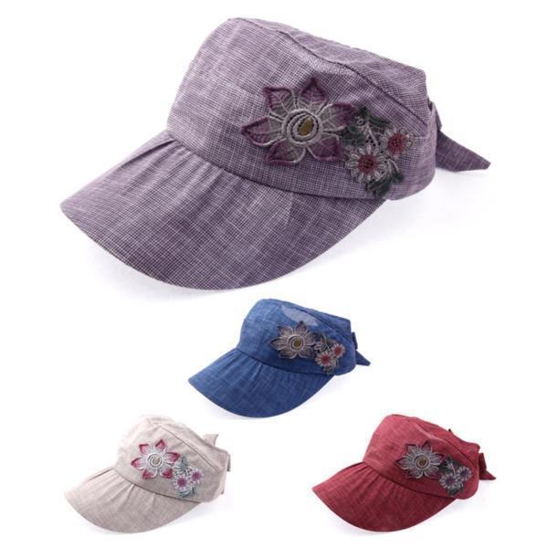 플라워패치 썬캡B3021 엄마모자 여름모자 패션모자