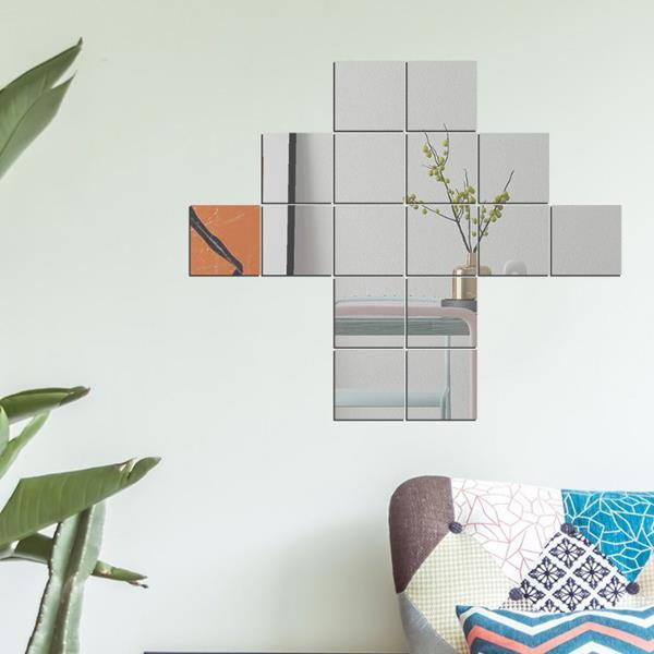 침실가구 거울 가구인테리어 TN 인테리어 아크릴 거울 16조각(사각)