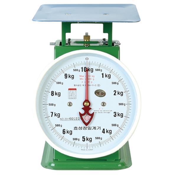 효성정밀계기 지시저울 10kg 438-0250