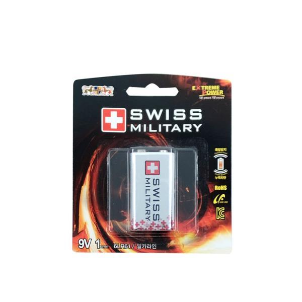 스위스밀리터리 9V(6LF22)(10알) 알카라인건전지