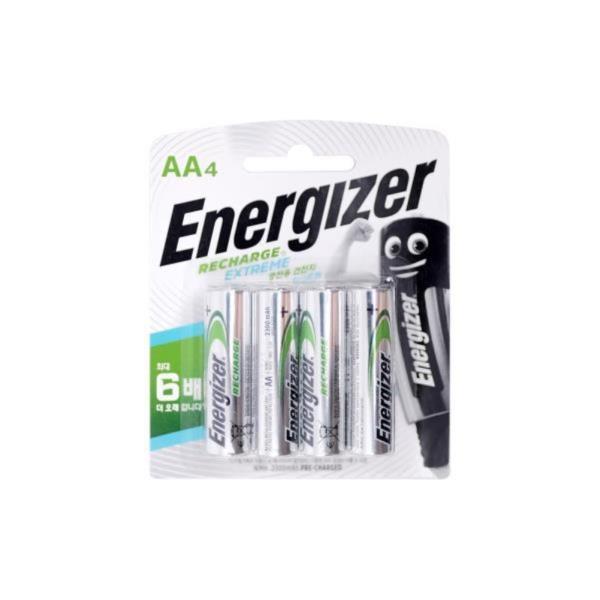 니켈수소전지 에너자이저 충전건전지AA 4알카드