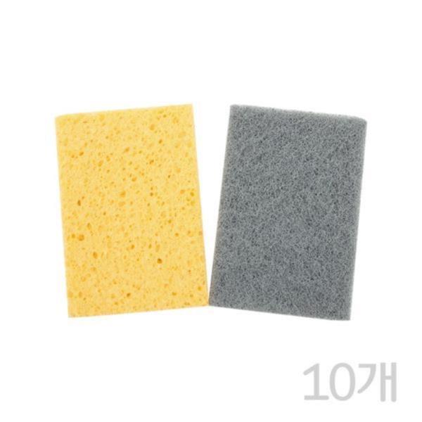 FROG 더블액션 고운 천연펄프수세미2P(10개)