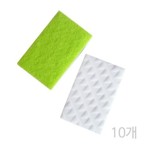 FROG 매직블럭무흠집수세미(2P)(10개) 양면수세미