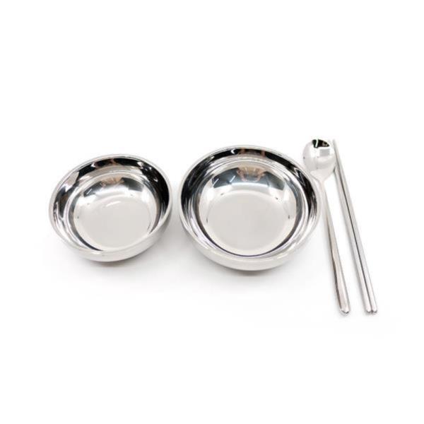 DF 스텐그릇세트(밥그릇 국그릇 수저세트) 진공그릇