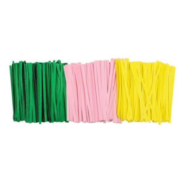 DF 컬러 종이빵끈(10cm 약1000개) 철심포장끈
