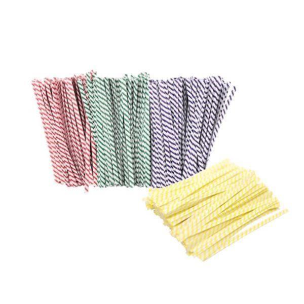 DF스트라이프 종이빵끈(10cm 약1000개) 철심포장끈