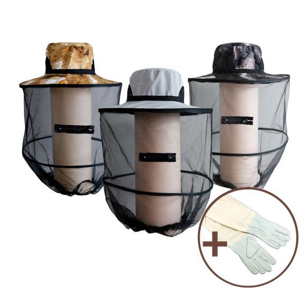 DF 케이스 벌망모자1P+양봉장갑1P세트 벌초모자장갑