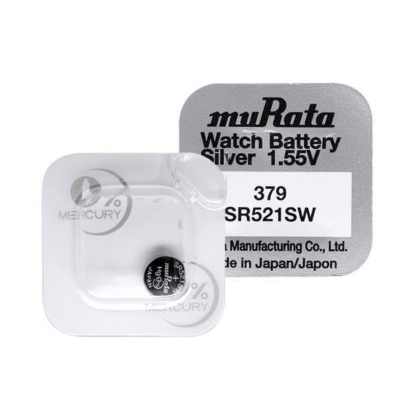무라타 379(SR521SW)(1알) 시계건전지 1.55V