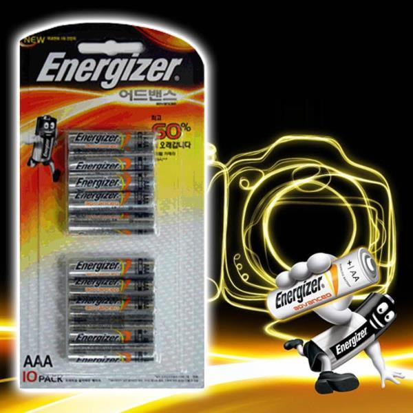 에너자이저 어드밴스 AAA건전지 10팩 LR3