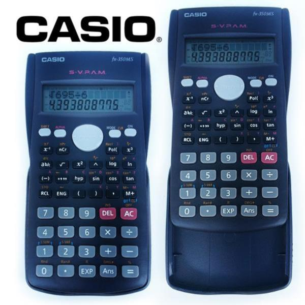 카시오 공학용 전자계산기 350MS 슬라이딩 케이스