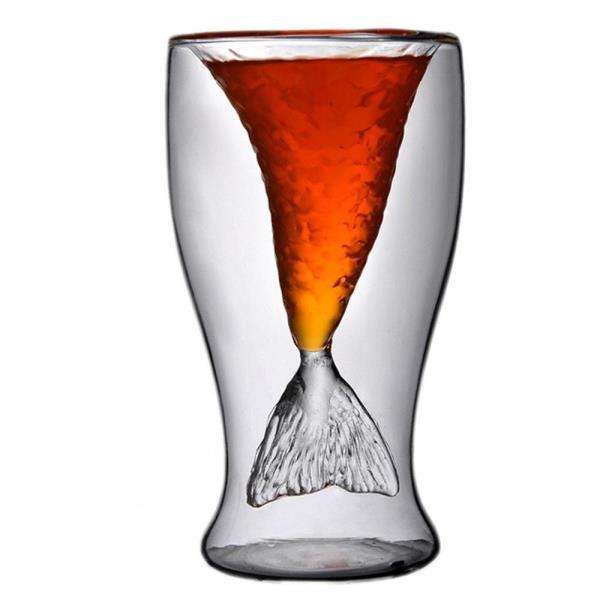 인어 칵테일잔 스트레이트잔 이중유리컵