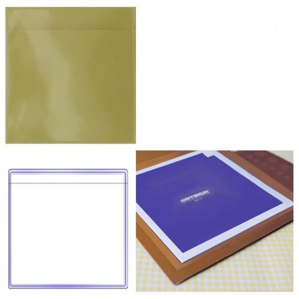 밀봉형 포켓 라벨테이프 대형정사각 30매 163x163