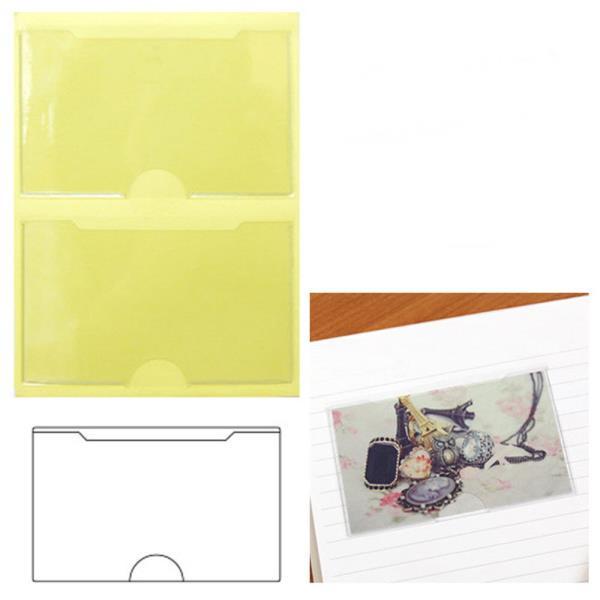 포켓 라벨 명함꽂이 가로/세로2P 30매 택1