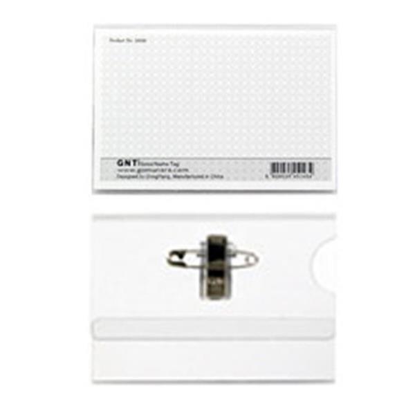 GNT명찰 집게옷핀이름표 100매 대형110x68