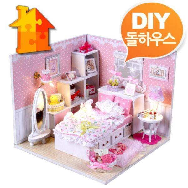 DIY 돌하우스 핑크엔젤 방꾸미기 미니어쳐 만들기