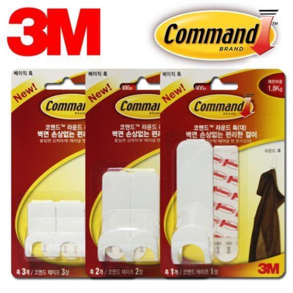 3M 라운딩훅 벽걸이행거 3매모음 택일