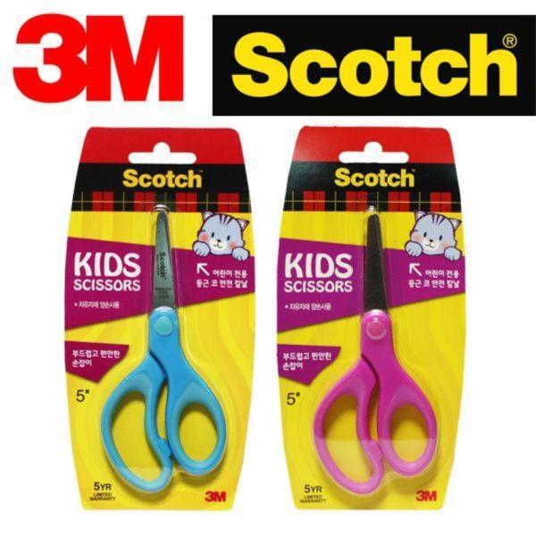 3M 어린이용  안전 양손공작가위 택일