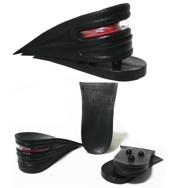 에어캡 키높이 3단분리 반깔창 6cm 블랙