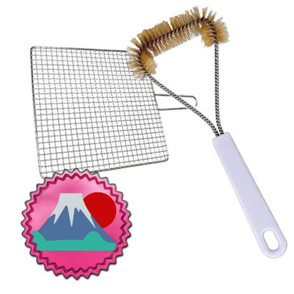일본마트상품 석쇠 불판 세척용 쇠솔