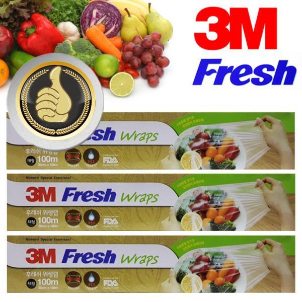 3M Fresh 위생랲 30cm 대형 100m 3롤