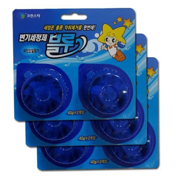 크린스타 양변기용 탈취세정제 6알