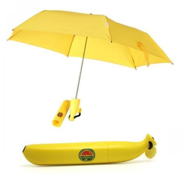 바나나케이스 3단수동접이식 휴대용우산
