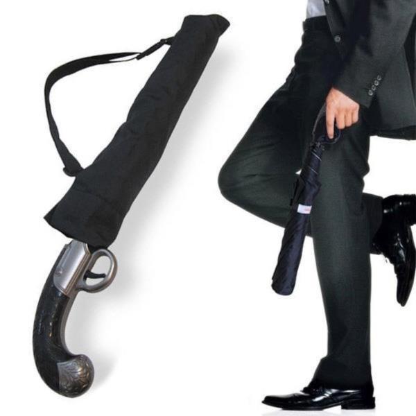 건브렐라 총손잡이 자동접이식 우산