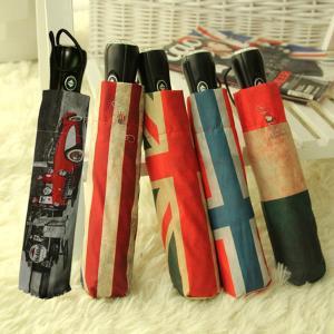 모던플래그 4단 자동열림 반자동접이식 우산
