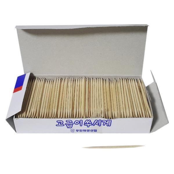 종이상자 요지통 자작나무 이쑤시개