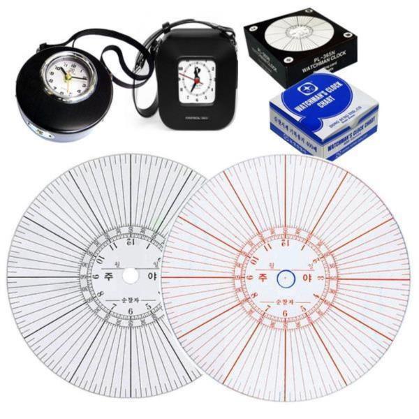 순찰시계용 순찰기계용지 리필 4종모음