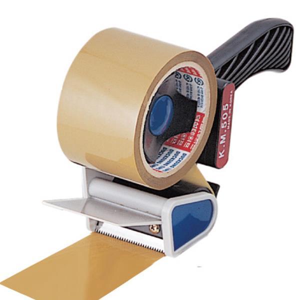 철심고정 KM505 한손작업 누름판 테이프커터기