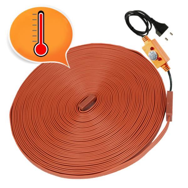 한파 수도 동파방지 배관 열선 30M 열감지 자동동작센서 히팅케이블