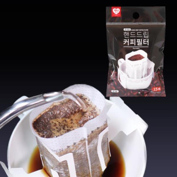 하니 NO드리퍼 핸드드립 커피필터 15매