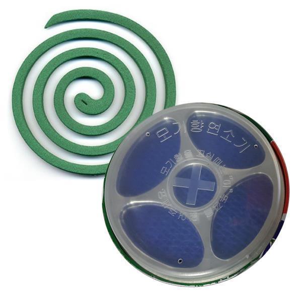 유리섬유 3단 모기향 안전 연소기