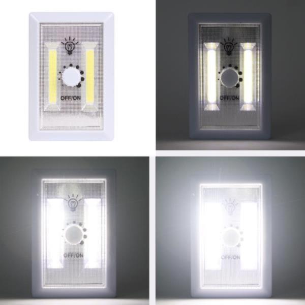 코드없는 비상등 밝기조절 원형디머 2구벽면등