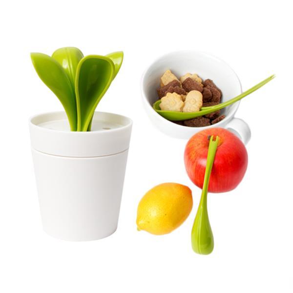 스푼포크 4P 새싹화분