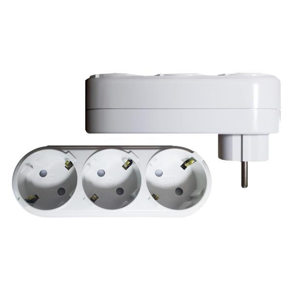 일신 표준 3구 ㄱ형 멀티탭 플러그콘센트