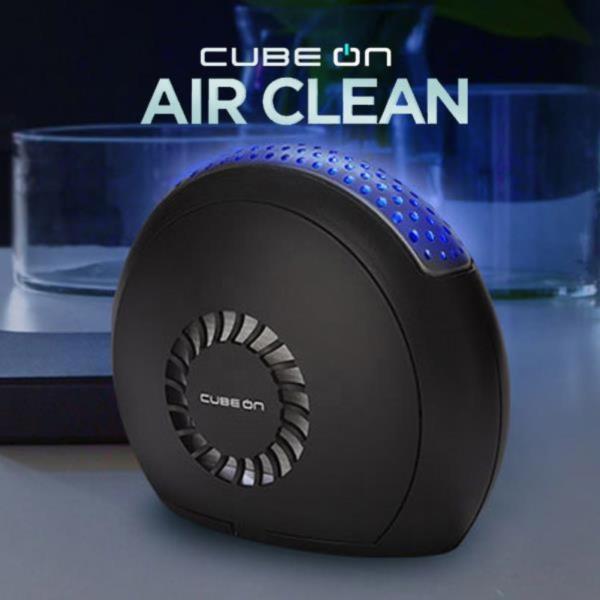 큐브온 3중필터 1000B 휴대용 공기청정기 블랙
