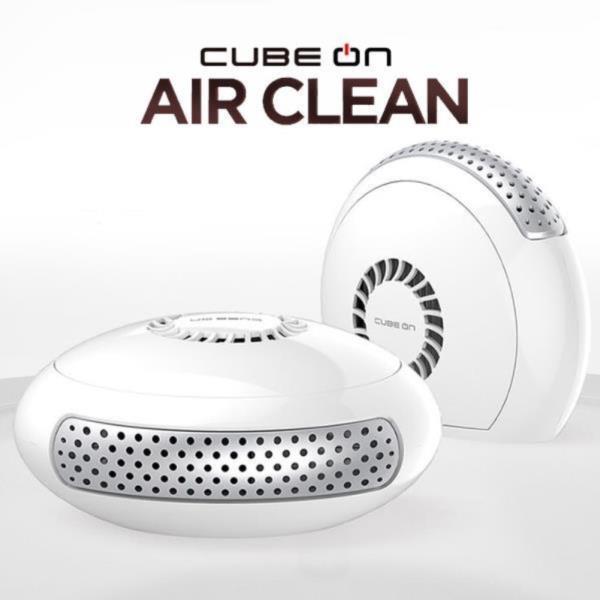 큐브온 저소음 휴대용 공기청정기 1000W 화이트