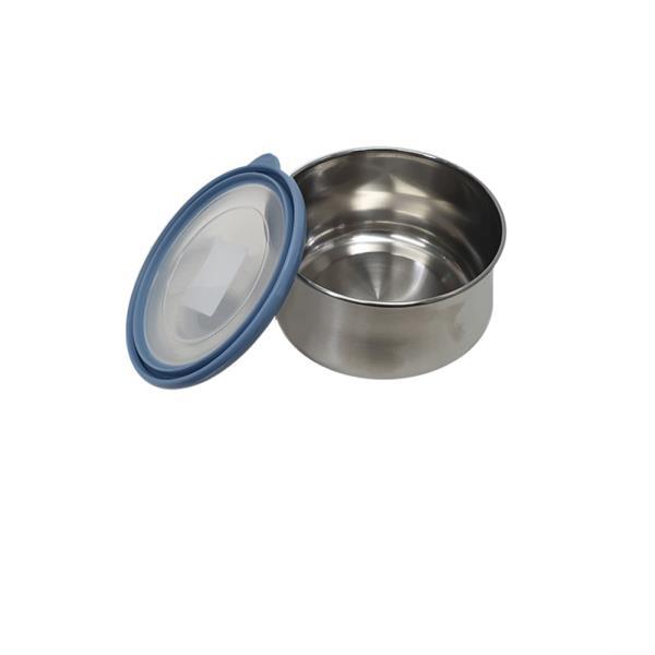 편리한 원형 스텐밀폐용기 3호소형