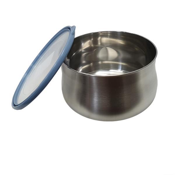 편리한 원형 스텐밀폐용기 5호대형