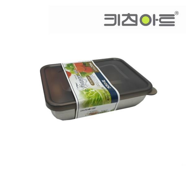 키친아트 피앙새 사각 스텐냉동용기 1호 310ml