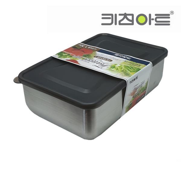 키친아트 피앙새 사각 스텐냉동용기 4호 1320ml