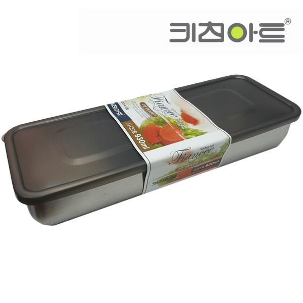 키친아트 피앙새 사각 스텐냉동용기 5호 930ml