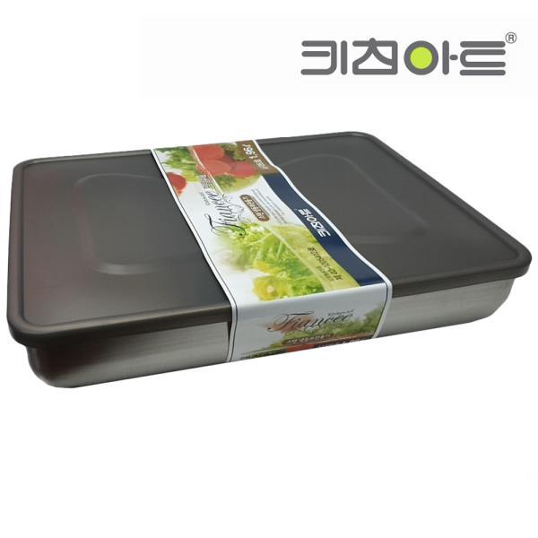 키친아트 피앙새 사각 스텐냉동용기 6호 1960ml